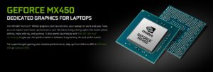 GeForce MX 450, first in MX line with PCle 4.0 support