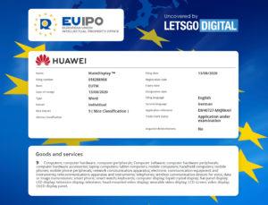 Huawei's Registry for MateDisplay as released by LetsGoDigital