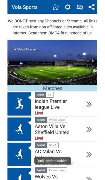 Vola Sports app