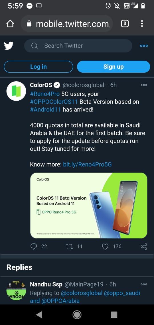 Twitter Screenshot ColorOS 11