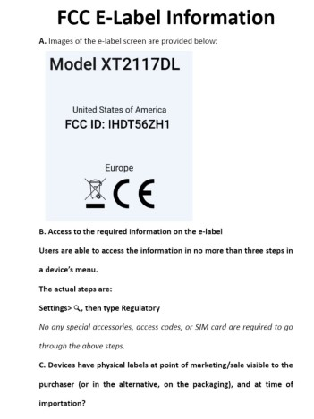 Motorola FCC