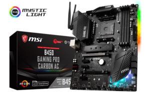 MSI 400 series motherboards; B450