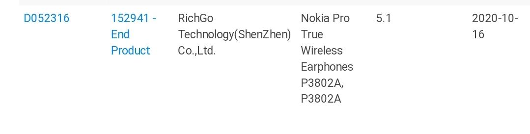 Nokia earphones Bluetooth SIG