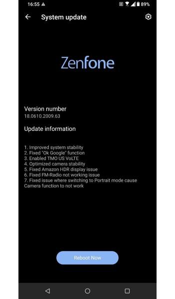 ZenFone 6 beta update