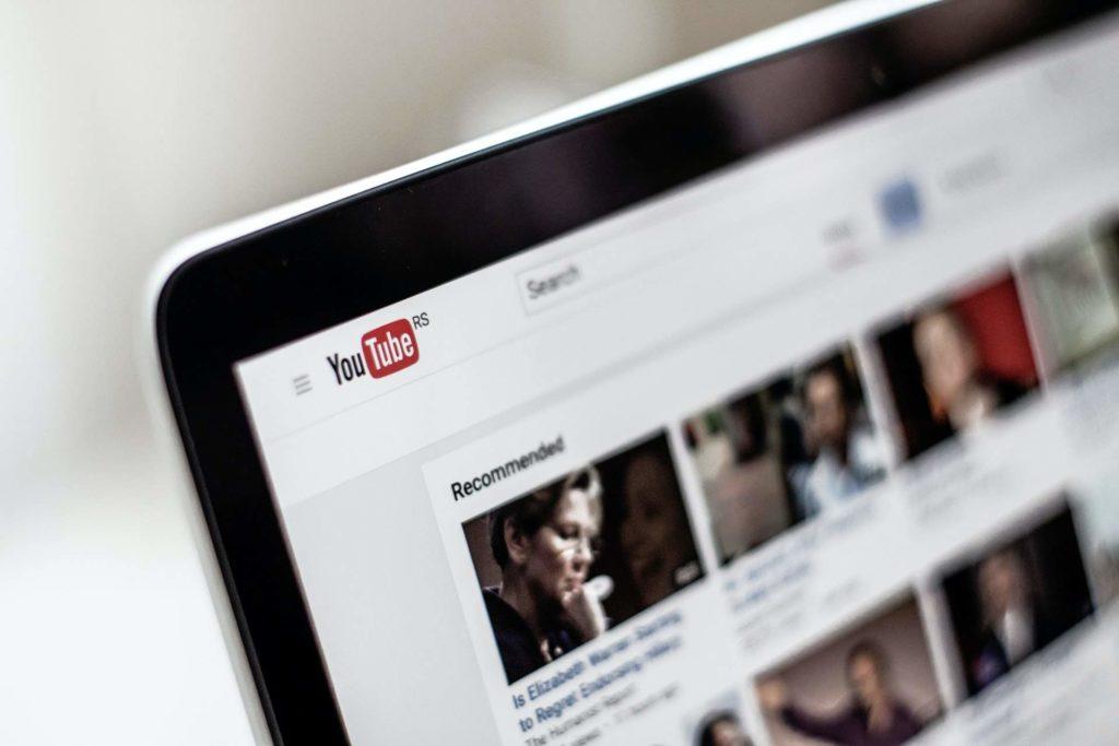 A youtube webpage open on a laptop