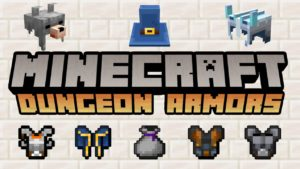 Minecraft MC Dungeons Armors mod updated to version 1.3.7