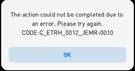 error code C_ETRH_0012_JEMR-0010