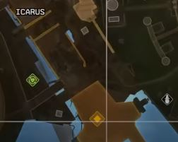 Screengrab of the Olympus map showing the location of the keycard