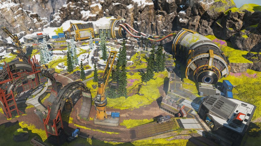 An image of the Phase Runner map in the new Arenas game mode on Apex Legends.