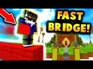 How to Fast Bridge in Minecraft PE Android?