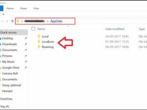 %appdata% Folders Source: The Windows Club