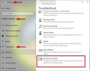Windows Store Troubleshooter Source: MajorGeeks.com