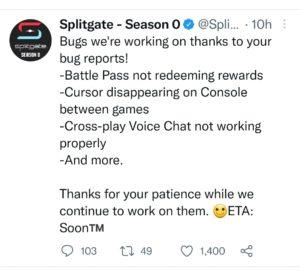 Splitgate twitter