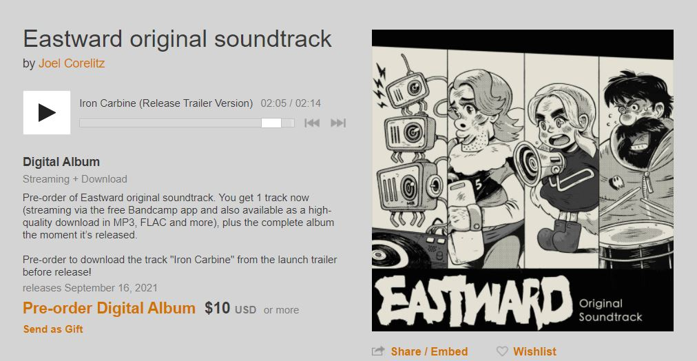 Bandcamp Eastward Soundtrack
