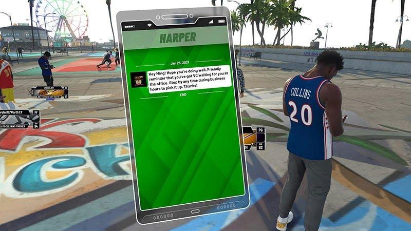 Endorsement phone-Message NBA 2K22