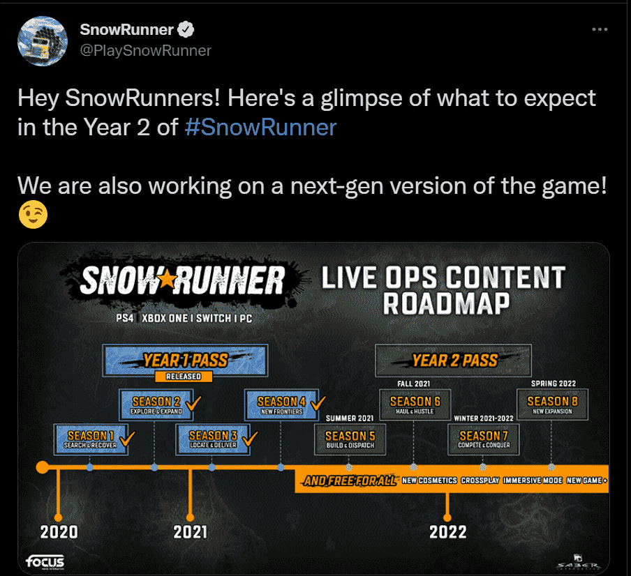 SnowRunner Twitter