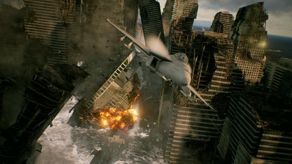 Ace Combat 7 explosion