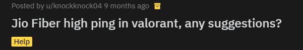 Valorant: Jio connection