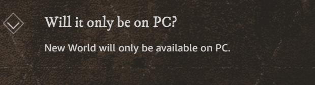 New World FAQ