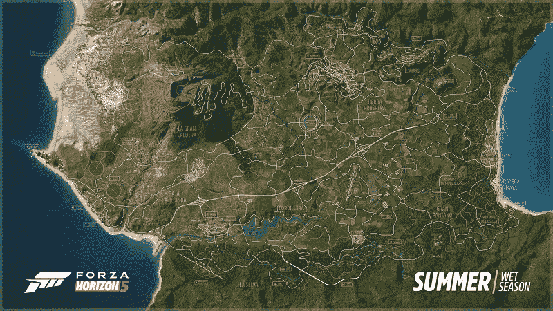 Mexico Map in Forza Horizon 5