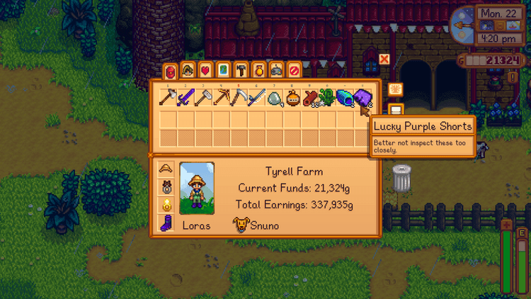 Foraging tools in Stardew Valley